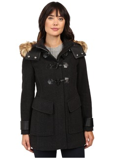 "Marc New York Paxton 30"" Wool Plush Toggle Faux Fur Coat"