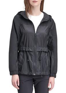 Marc New York Penrose Mixed-Media Rain Coat