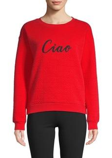 Marc New York Puff-Knit Graphic Sweatshirt