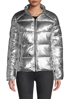 Marc New York Quilted Metallic Puffer Jacket