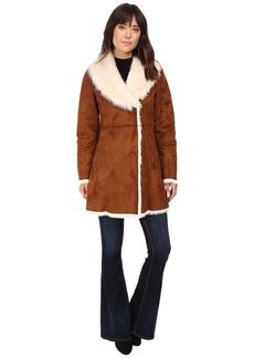Marc New York Sarah Faux Suede/Fur Coat