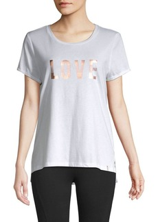 Marc New York Striped Love Graphic T-Shirt