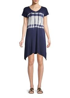 Marc New York Tie-Dye Mini T-Shirt Dress