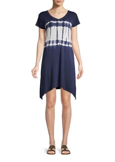 Marc New York Tie-Dye Mini T-Shirt Dress