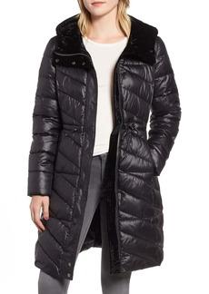 Marc New York Velvet Trim Quilted Coat