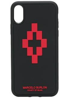 Marcelo Burlon 3D cross logo iPhone XS case
