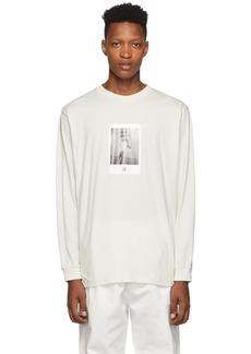 Marcelo Burlon Beige Rose Square Long Sleeve T-Shirt