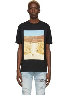 Marcelo Burlon Black & Beige Ostrich T-Shirt