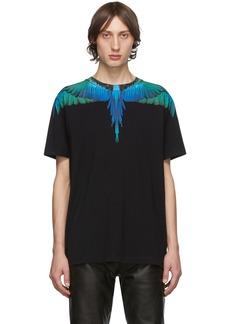 Marcelo Burlon Black & Blue Wings T-Shirt