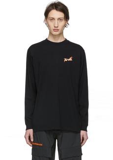 Marcelo Burlon Black Fireball Long Sleeve T-Shirt