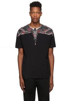 Marcelo Burlon Black Flower Wings T-Shirt