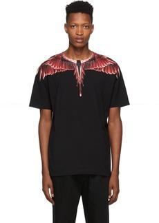 Marcelo Burlon Black Red Ghost Wings T-Shirt