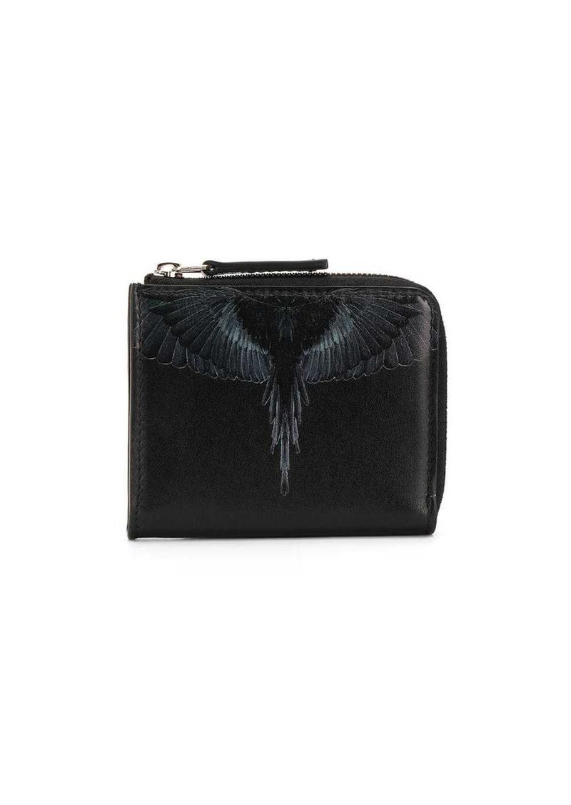 Marcelo Burlon black wings wallet