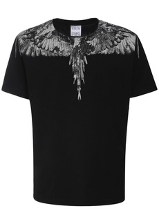 Marcelo Burlon Camo Wings Print Cotton Jersey T-shirt