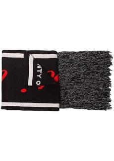 Marcelo Burlon Cross lettering scarf