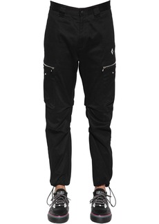 Marcelo Burlon Cross Logo Cotton Canvas Cargo Pants