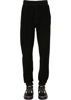 Marcelo Burlon Cross Logo Cotton Terry Sweatpants