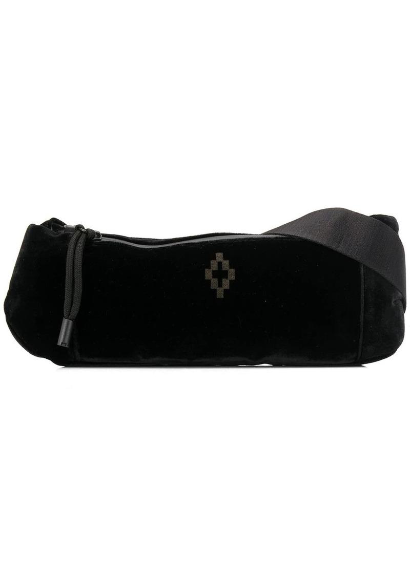 Marcelo Burlon Cross velvet belt bag