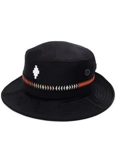 Marcelo Burlon embroidered logo sun hat