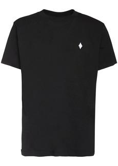 Marcelo Burlon Logo Embroidery Basic Cotton T-shirt