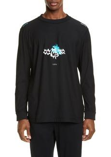 Marcelo Burlon Bat Graphic Long Sleeve T-Shirt