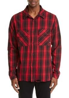 Marcelo Burlon County Check Plaid Button-Up Flannel Shirt