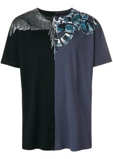 Marcelo Burlon contrast panel wings and snakes T-shirt