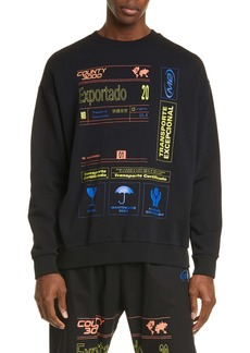 Marcelo Burlon Exportado Cotton Sweatshirt