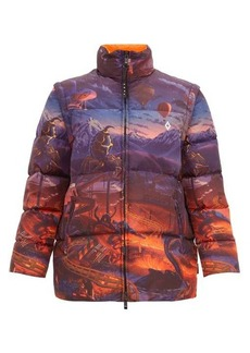 Marcelo Burlon Fantasy printed quilted-down jacket