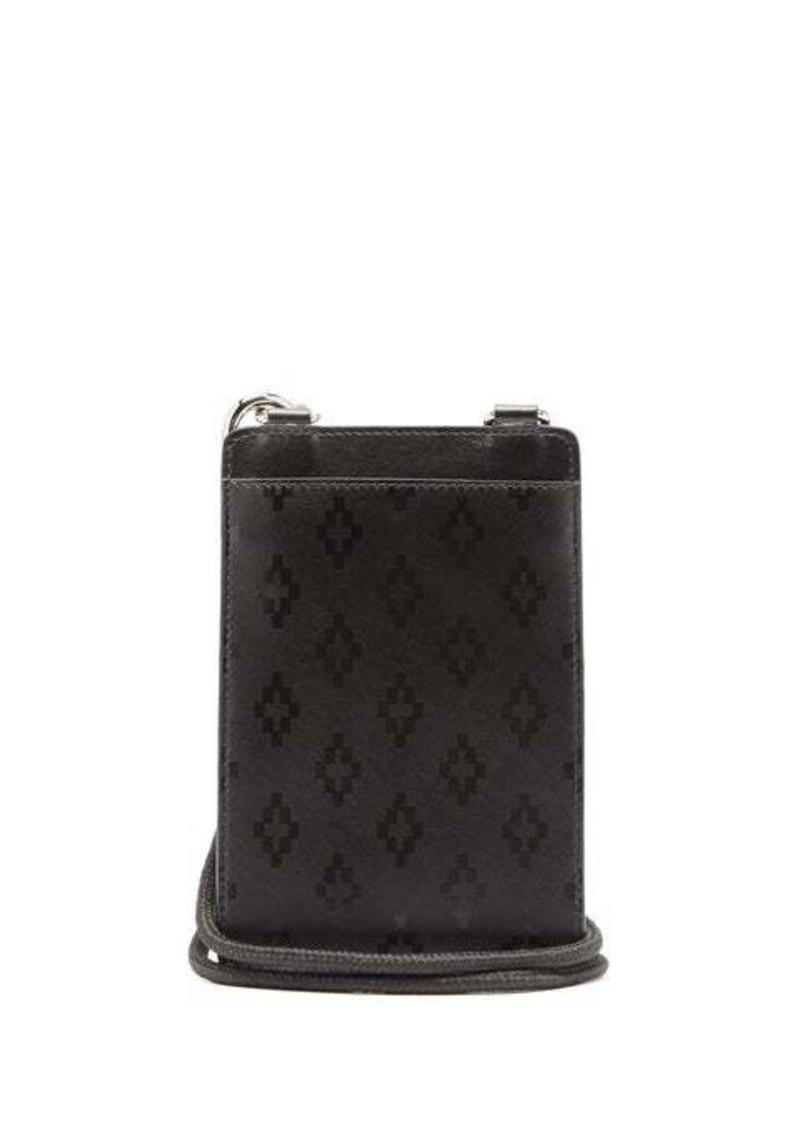 Marcelo Burlon Logo-print leather neck pouch