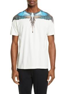Marcelo Burlon Turquoise Wings Graphic T-Shirt