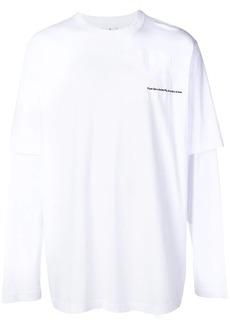 Marcelo Burlon Muhammed Ali print layered T-shirt