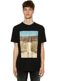 Marcelo Burlon Ostrich Printed Cotton Jersey T-shirt