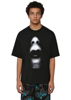 Marcelo Burlon Over Printed Cotton Jersey T-shirt