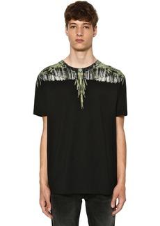 Marcelo Burlon Printed Wings Cotton Jersey T-shirt