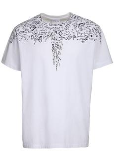 Marcelo Burlon Sketch Wings Print Cotton Jersey T-shirt