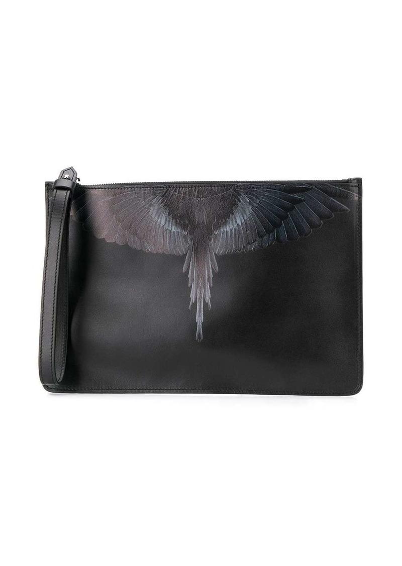 Marcelo Burlon wings-print clutch bag
