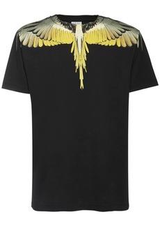 Marcelo Burlon Wings Print Cotton Jersey T-shirt