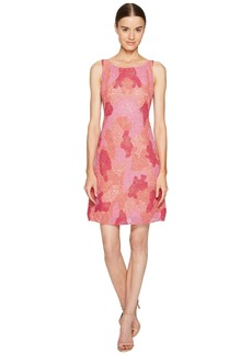 Marchesa All Over Embroidered Cocktail Dress