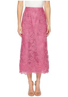 Marchesa Blush Corded Tea Length Lace A-line Skirt