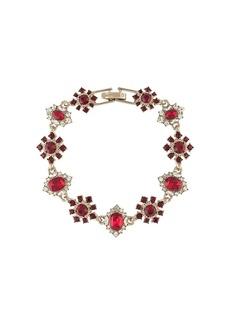 Marchesa crystal-floral bracelet