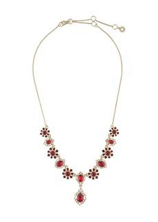 Marchesa crystal-pendant necklace