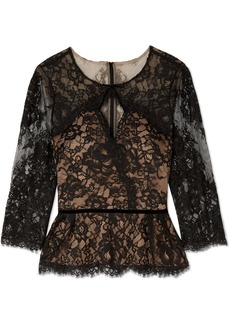 Marchesa Cutout Corded Lace Blouse