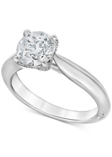 Marchesa Diamond Claw Engagement Ring (1-5/8 ct. t.w.) in 18k White Gold