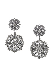 Marchesa disc-drop earrings