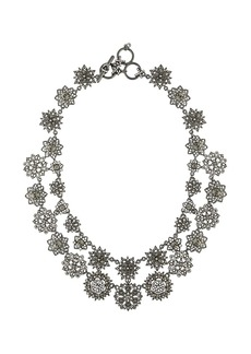 Marchesa double-strand crystal flower necklace