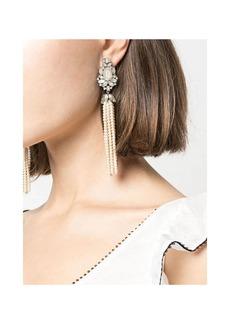 Marchesa Drama Pearl Tassel Earrings