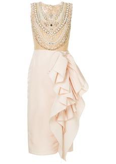 Marchesa embellished bodice cocktail dress