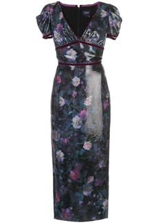 Marchesa embellished midi dress