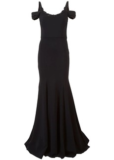 Marchesa embellished neck gown